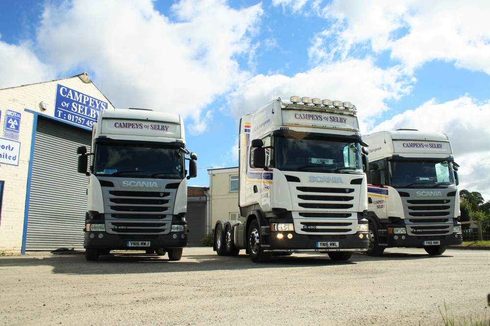 Campeys fleet of trucks